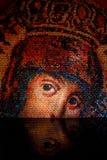 圣母玛丽亚马赛克 库存图片