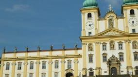 圣母玛丽亚,斯瓦迪Kopecek教会的奥洛穆茨,捷克,装饰的访问的大教堂 影视素材