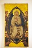 圣母玛丽亚,盘区绘画,锡耶纳,意大利的做法 免版税库存照片