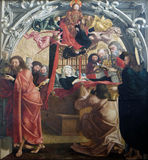 圣母玛丽亚死亡  免版税库存图片