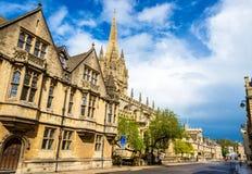 圣母玛利亚大学教堂在牛津 免版税库存图片