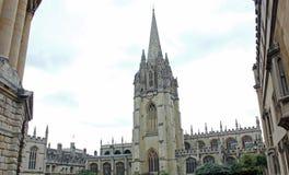 圣母玛利亚大学教堂,牛津,英国 免版税库存图片