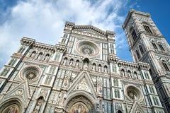 圣母百花圣殿圣玛丽亚del菲奥雷,托斯卡纳,意大利 免版税库存照片