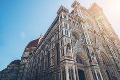 圣母百花圣殿在佛罗伦萨-意大利 库存图片