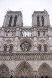 巴黎圣母院在一个冬日 库存图片