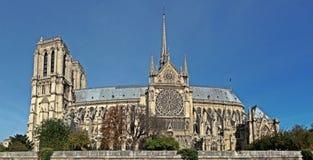 巴黎圣母院在市巴黎法国 图库摄影