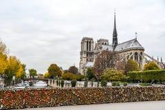 巴黎圣母院大教堂,法国 免版税库存照片