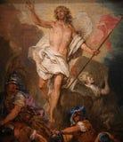 巴黎圣母院大教堂,巴黎,法国内部  免版税库存图片