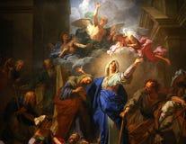巴黎圣母院大教堂,巴黎,法国内部  库存图片