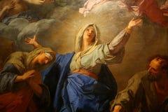 巴黎圣母院大教堂,巴黎,法国内部  库存照片
