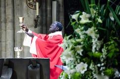 巴黎圣母院天主教徒大量 库存图片