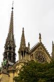 巴黎圣母院片段 免版税库存照片
