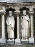 巴黎圣母院,法国雕塑  免版税库存照片