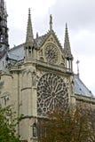巴黎圣母院- Catedral de巴黎圣母院frança大教堂  免版税库存图片