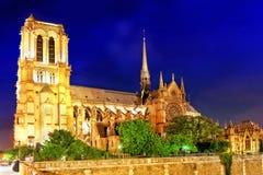 巴黎圣母院Cathedral.Paris。法国。 免版税库存照片