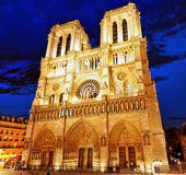 巴黎圣母院Cathedral.Paris。法国。 免版税库存图片