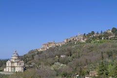 圣比亚焦和Montepulciano 库存照片