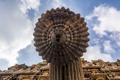 圣水出口-在Brihadisvara寺庙在坦贾武尔 免版税库存照片