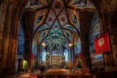 圣沃尔夫冈的教会内部  库存图片