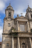 圣法兰西斯修道院和对它的创建者圣法郎的一座纪念碑 图库摄影
