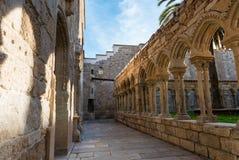 圣法兰西斯修道院遗骸在欧伦塞 图库摄影