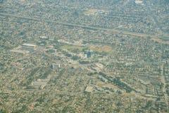 圣法兰西斯医疗中心的鸟瞰图, Lynwood公园 库存图片