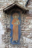 圣法兰西斯古老壁画  免版税库存图片