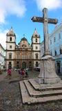 圣法兰西斯巡航` s正方形,萨尔瓦多,巴西 免版税库存图片