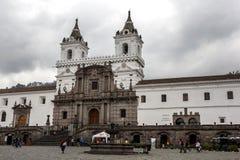 圣法兰西斯教会和修道院的外部在Quiti在厄瓜多尔 库存图片