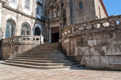 圣法兰西斯教会的楼梯在波尔图葡萄牙 免版税库存图片
