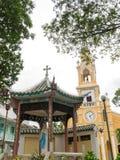 圣法兰西斯教会(可汗Tam教会)在胡志明,越南 库存照片