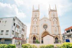 圣法兰西斯泽维尔教会在马六甲,马来西亚 免版税库存照片
