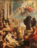 圣法兰西斯泽维尔奇迹  向量例证