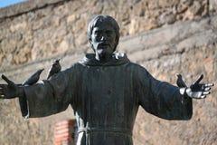 圣法兰西斯雕象  图库摄影