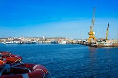 圣波拉口岸小游艇船坞在阿利坎特西班牙 库存图片