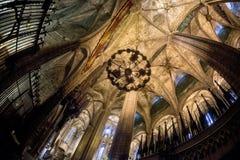 圣洁交叉和圣徒尤拉莉亚的大教堂 库存图片