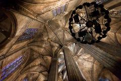 圣洁交叉和圣徒尤拉莉亚的大教堂 免版税图库摄影