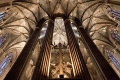 圣洁交叉和圣徒尤拉莉亚的大教堂 库存照片