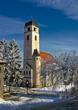 圣洁交叉教会在Krizevci 库存图片