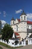 圣洁传道者彼得和保罗的白俄罗斯ortodox大教堂教会在米斯克,白俄罗斯 图库摄影