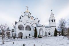 圣洁保护女修道院在苏兹达尔 Pokrovsky妇女` s修道院在冬天 苏兹达尔 俄国 库存照片