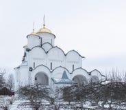 圣洁保护女修道院在苏兹达尔 Pokrovsky妇女` s修道院在冬天 苏兹达尔 俄国 免版税库存图片