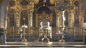 圣洁十字架的兴奋的教会在Palekh村庄  股票录像