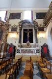 圣洁十字架,男修道士的方济会教会法坛较小在杜布罗夫尼克 免版税库存照片