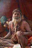 圣洁印度人纳卡人sadhu 免版税图库摄影