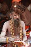 圣洁印度人赤裸圣徒 免版税库存照片