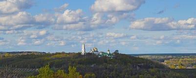 圣洁发怒兴奋修道院在波尔塔瓦,乌克兰 免版税库存图片