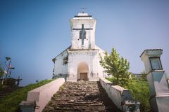 圣洁发怒弗尔沙茨塞尔维亚的教堂 库存照片