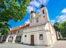圣洁发怒近的总统府在1543年建造的,维尔纽斯,立陶宛的教会 库存照片