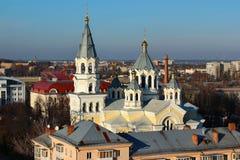 圣洁变貌的大教堂在日托米尔,乌克兰 库存照片